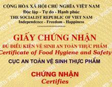 Xin giấy phép an toàn vệ sinh thực phẩm tại HCM