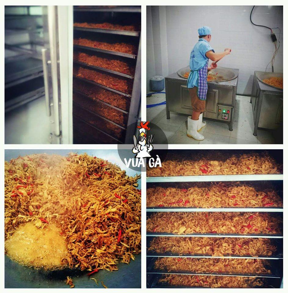 hình minh họa quá trình sản xuất khô gà